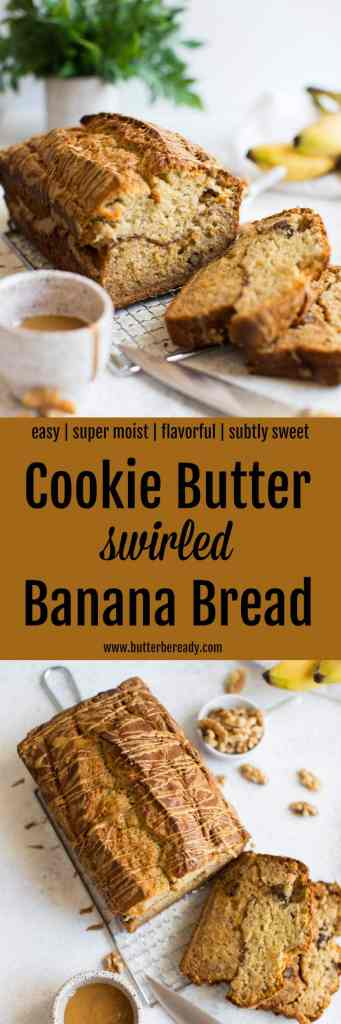 Cookie Butter Swirled Banana Bread