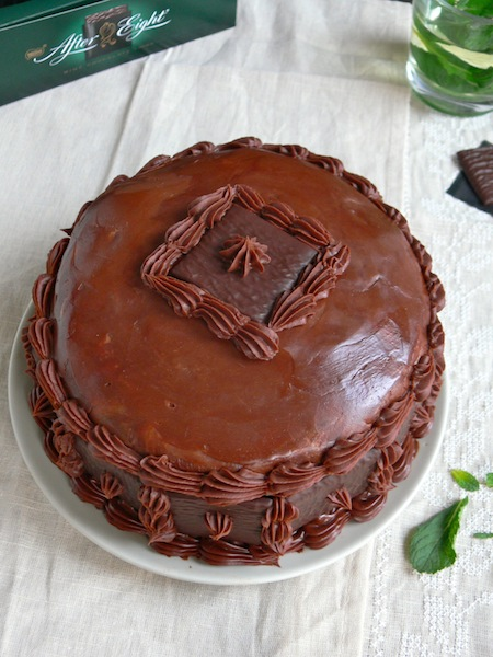 Dark Chocolate Mint After Eight Layer Cake