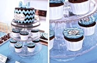 My 30th Birthday Teal Chevron First Sweet Table, My One Year Blogiversary and  100 000 views !
