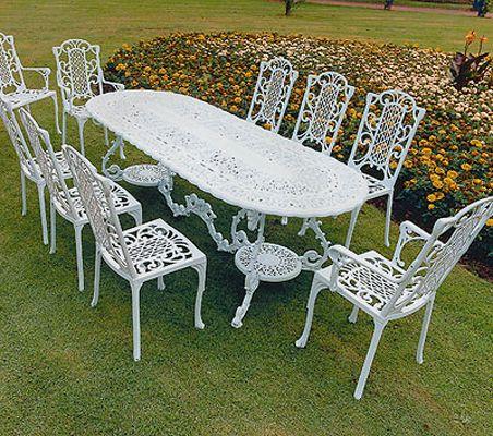 victorian maxi grand british made high quality cast aluminium garden furniture