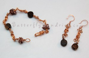 Nautical Knot Shell & Wood Bracelet Set