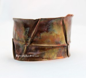 Intersectional Cuff with Heat Patina