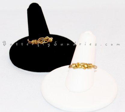 Two Rings on Stands- White Background