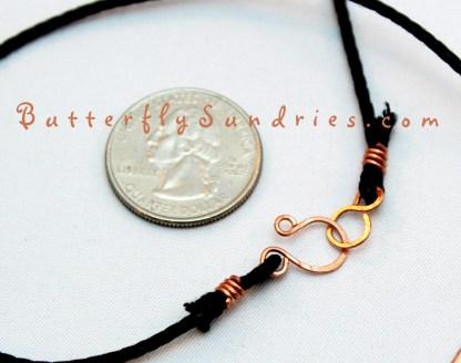 Copper Diamond Lotus Pendant Clasp Perspective on White