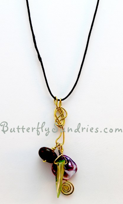 Necklace Hanging on White