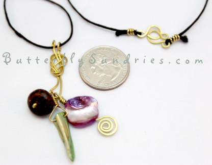 Pendant and Clasp Perspective on White