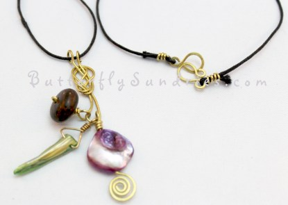 SSYBN Pendant and Clasp on White