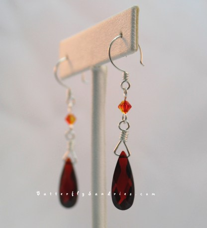 Siam and Fire Opal Angle Hanging on White 2
