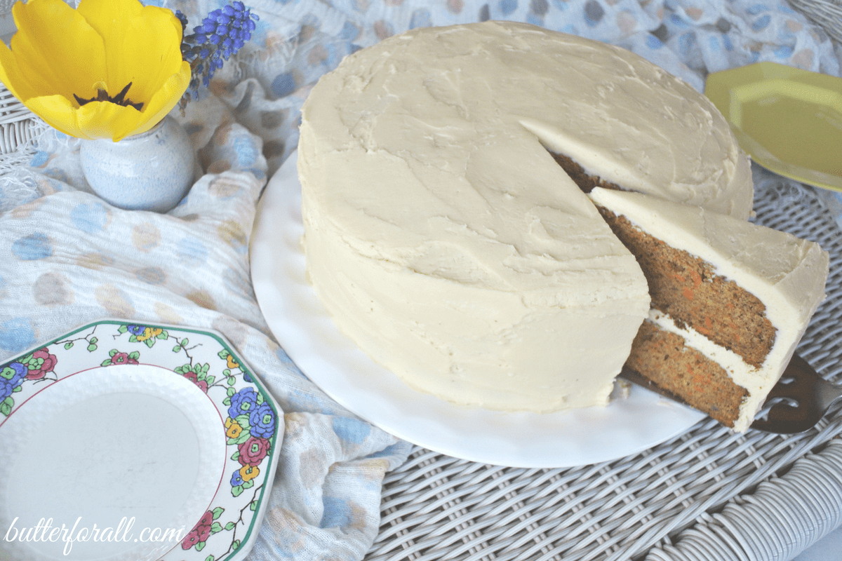 Cardamom Date Carrot Cake – With Maple Sweetened Cream Cheese Frosting