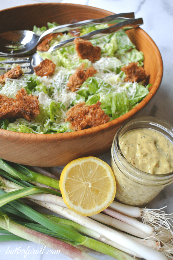 Spring garlic And Lemon Caesar Dresing