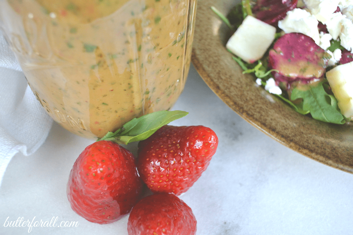 Strawberry Basil Vinaigrette – Dressing, Dipping Sauce and Marinade
