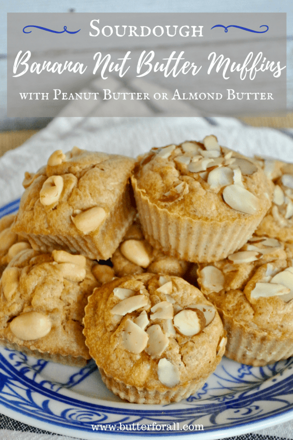 The Best And Easiest Sourdough Banana Nut Butter Muffins