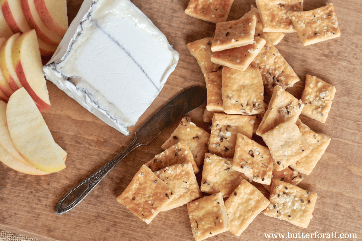 Rustic Sourdough Butter Crackers