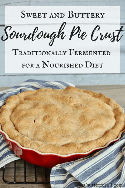 A traditionally fermented Sourdough Pie Crust with just the right amount of sweetness for all your holiday pies!