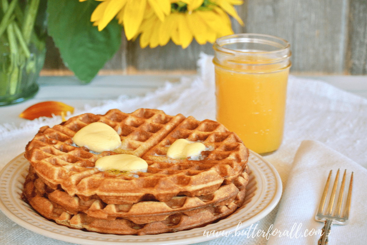 Sourdough And Sprouted Whole Wheat Waffles – Made With Properly Prepared Grains