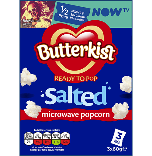 salted microwave popcorn products