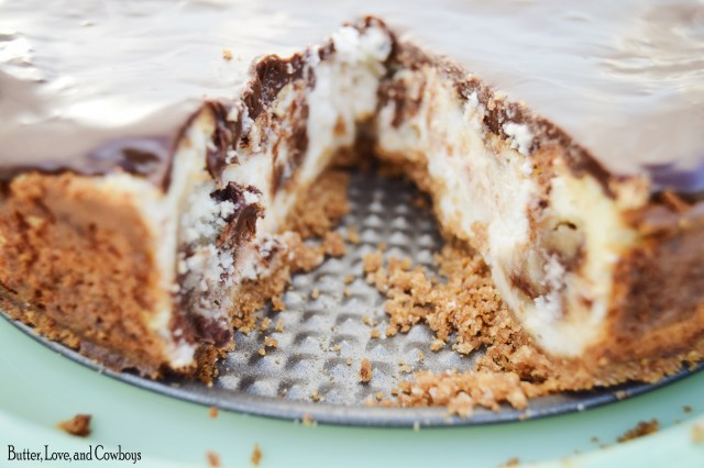 Chocolate Chip Cookie Dough Cheesecake from Butter, Love, and Cowboys