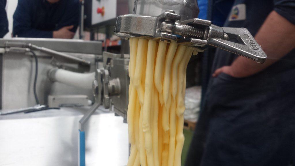 Rework butter discharged through 3mm extruder