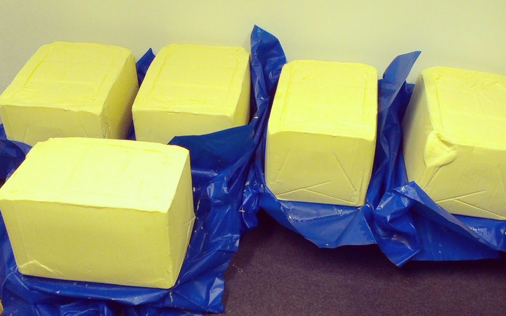 Butter blocks in food production
