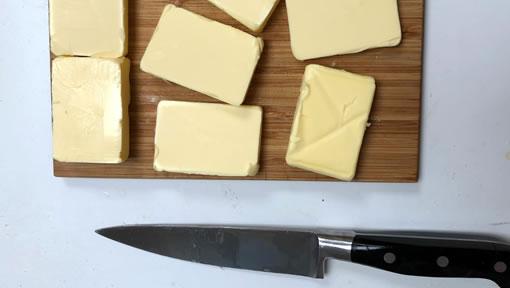Butter block knife
