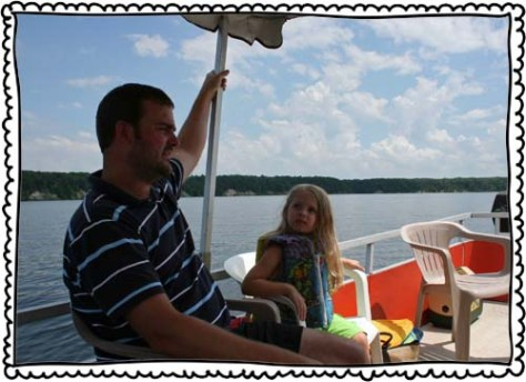 July 2010. We were on a boat.