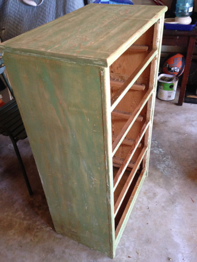 '50s yard sale dresser refinish project