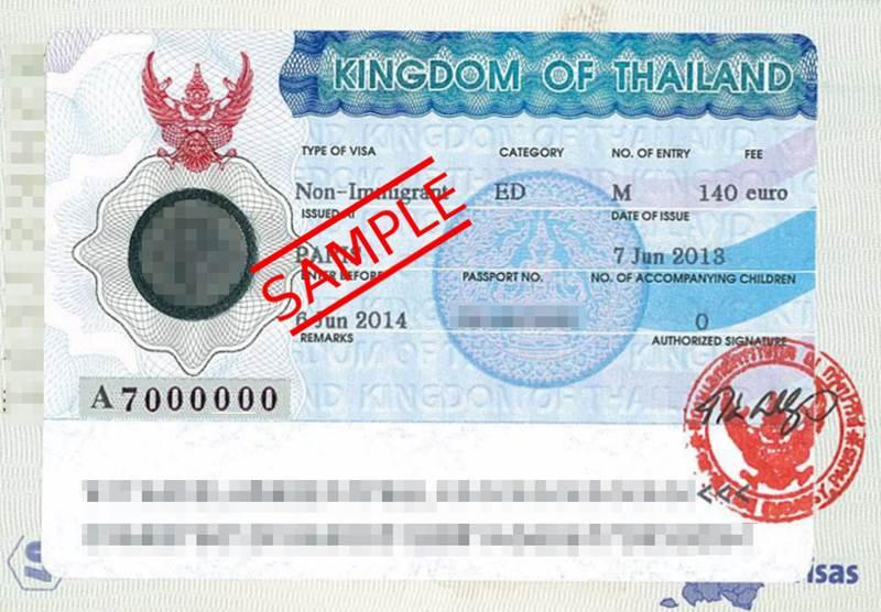 visa non immigrant ed thailande