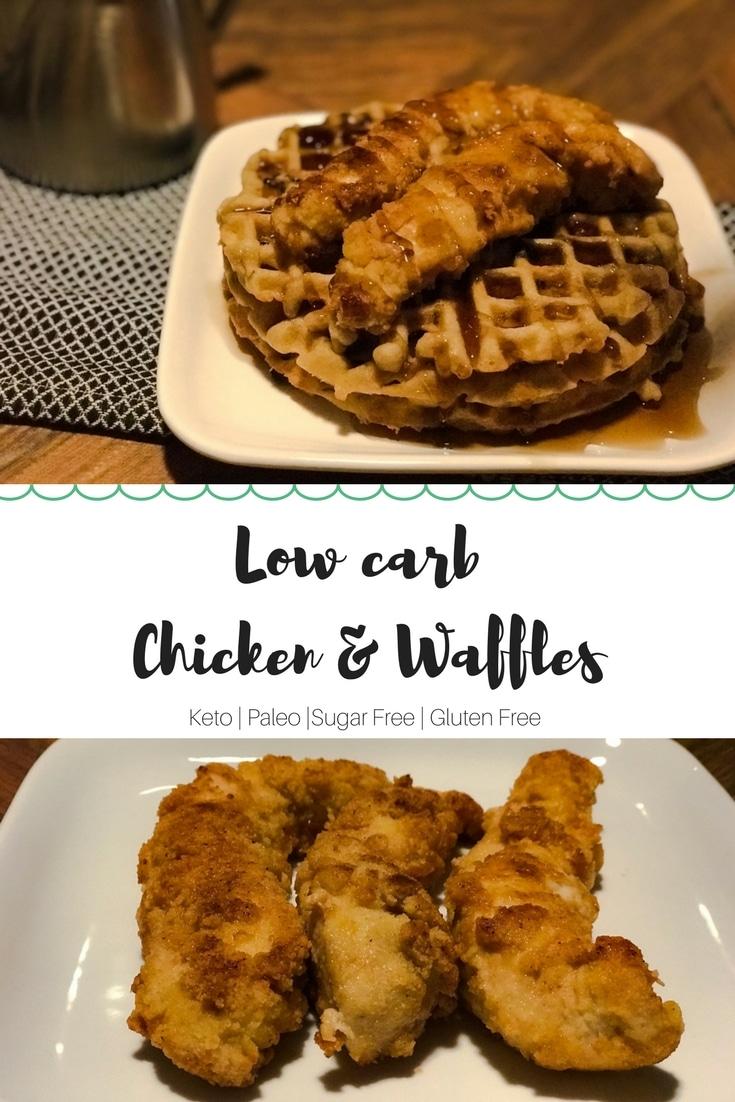 Keto Chicken & Waffles #keto #Lowcarb #chickenandwaffles #ketowaffles #ketobreakfast #lowcarbbreakfast #brunch #breakfast #easyketorecipe | buttertogetherkitchen.com