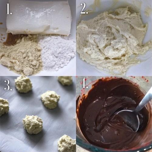No-Bake Sugar Free Cheesecake Truffles Steps To Make