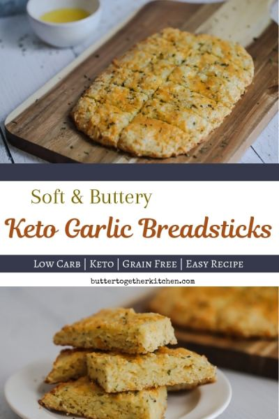 Cheesy Keto Garlic Bread - Butter Together Kitchen