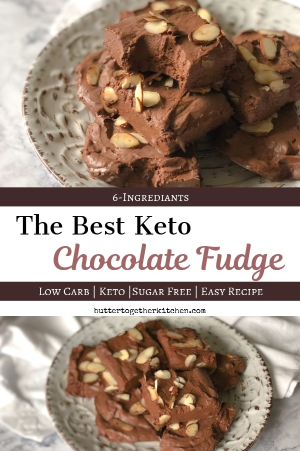 Best Chocolate Keto Fudge - Creamy and Delicious #ketofudge #ketodessert #sugarfreefudge #ketochocolate #lowcarbfudge   buttertogetherkitchen.com