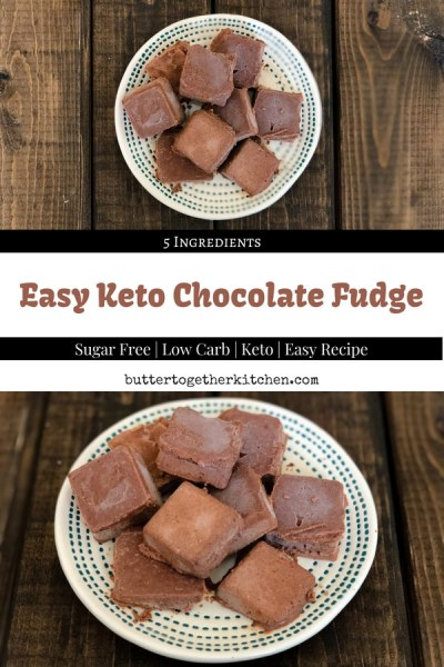 Keto Chocolate Fudge #keto #ketofudge #ketodessert #chocolate #ketochocolate #ketosnack #fatbomb #fudge | buttertogetherkitchen.com