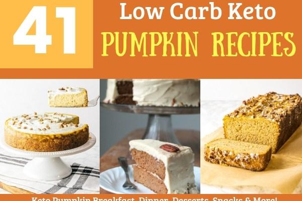 41 Low Carb Keto Pumpkin Recipes