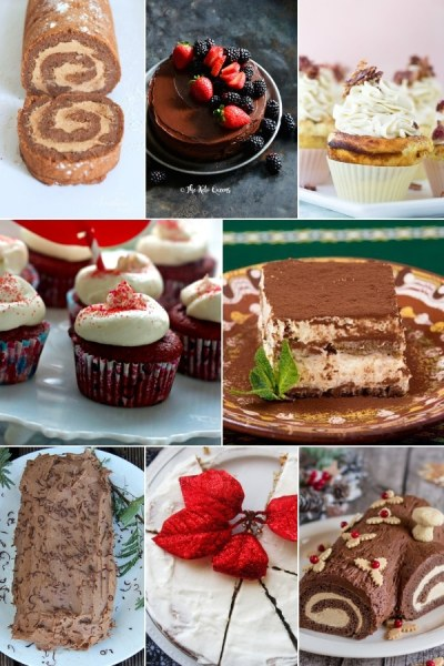 collage of keto cakes for the holidays