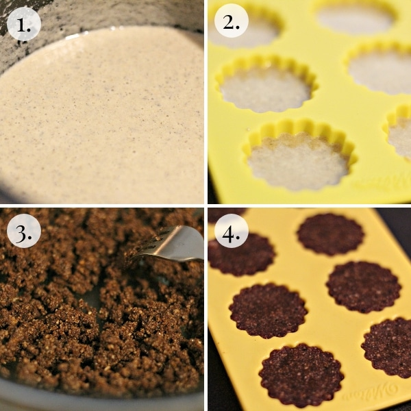 step by step how to make cookies and cream fat bombs