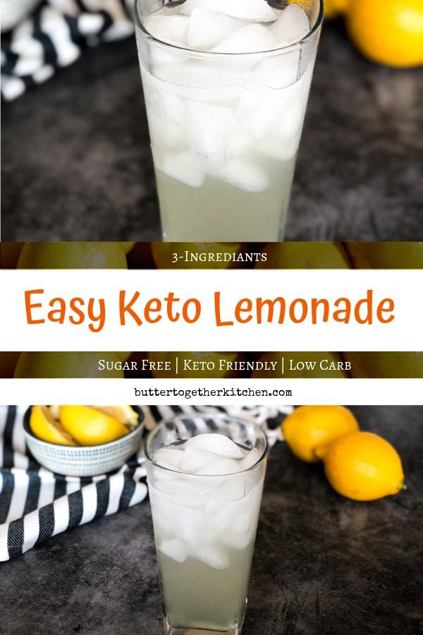 Sugar Free Keto Lemonade #ketolemonade #sugarfreelemonade #lemonade #easyketorecipe #ketodrink #sugarfreedrink #ketorecipes   buttertogetherkitchen.com