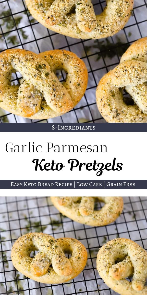 Garlic Parmesan Keto Pretzels - These buttery keto pretzels are seriously delicious! Easy keto bread recipe to make these pretzels #ketopretzels #garlicparmesan #ketobread #lowcarbbread #ketogarlicbread | buttertogetherkitchen.com