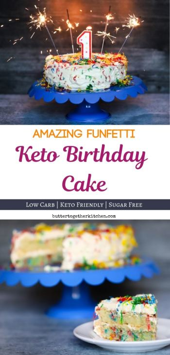 Admirable Funfetti Keto Birthday Cake 1 Year Blog Birthday Butter Birthday Cards Printable Benkemecafe Filternl