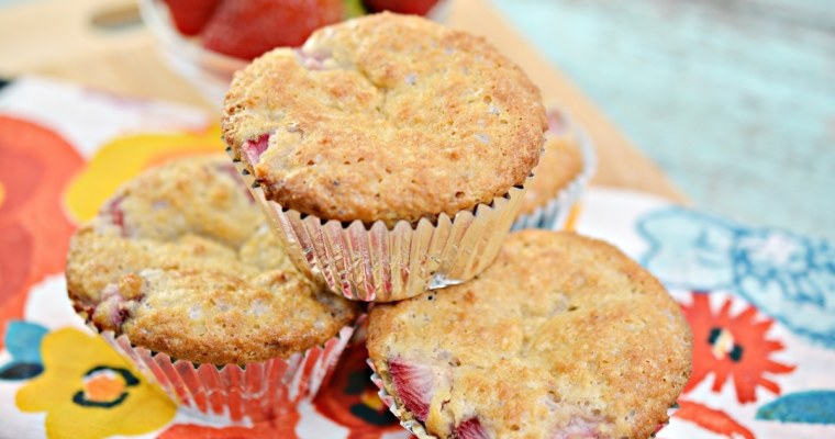 Fluffy Keto Strawberry Muffins