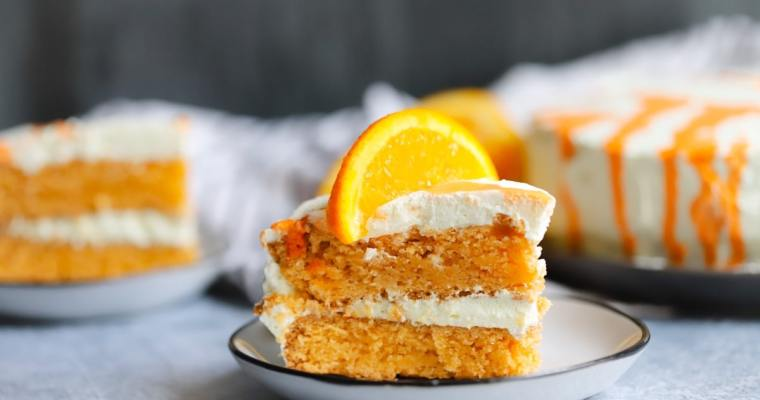 Low Carb Orange Creamsicle Cake