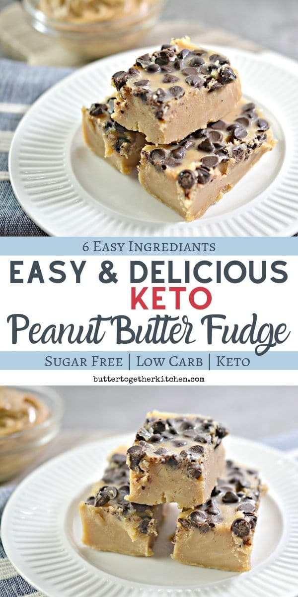 Keto Peanut Butter Fudge - A creamy homemade peanut butter fudge that is simply the BEST! #ketopeanutbutterfudge #ketofudge #peanutbutterfudge #ketodessert #sugarfreefudge | buttertogetherkitchen.com