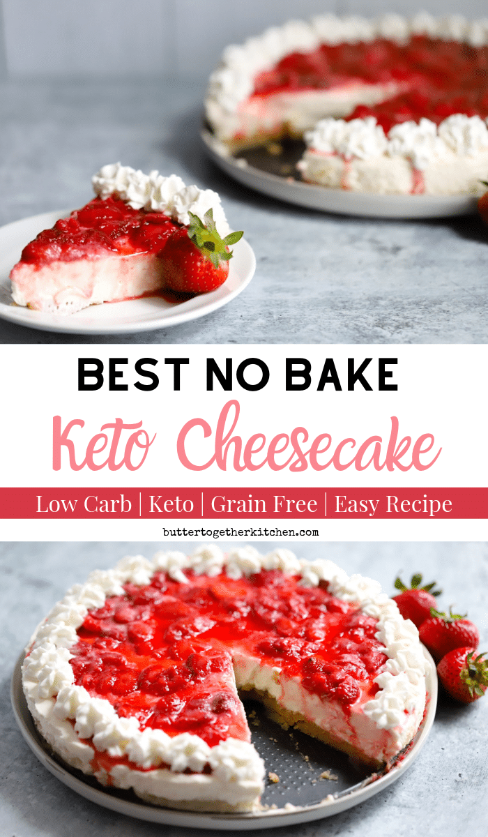 Best No Bake Keto Cheesecake - Perfect and easy no-bake keto cheesecake when you use Perfect Supplements Bovine Gelatin! #ketonobakecheesecake #ketocheesecake #ketodessert #perfectsupplement | buttertogetherkitchen.com