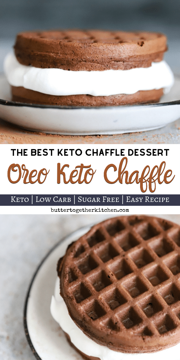 Best Oreo Keto Chaffle - Delicious sweet treat keto oreo chaffle that takes only a few minutes to make! #ketochaffle #oreochaffle #ketooreos #ketodessert | buttertogetherkitchen.com