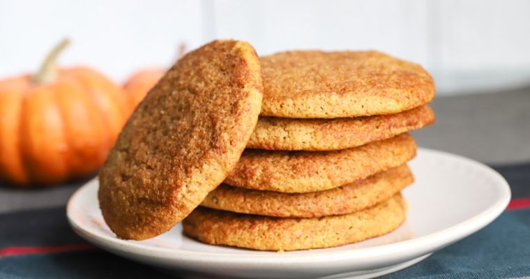 The BEST Keto Pumpkin Snickerdoodle Cookies