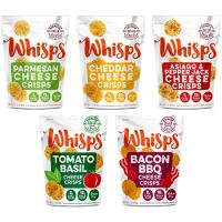Whisps Cheese Crisps 100% Cheese Crunchy Assortment (5 Pack)