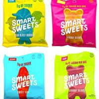 SmartSweets Fruity Gummy Bears, Sour Gummy Bears, Sweet Fish, Sour Buddies, Assortment Pack, Stevia Sweetened