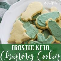 Frosted Keto Christmas Cookies