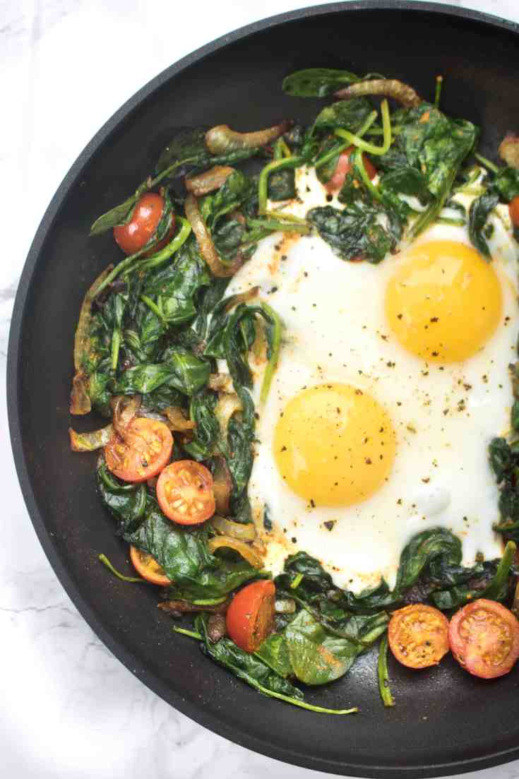 Turmeric Spinach and Eggs