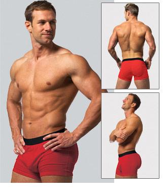 Mens Boxer Briefs Premium Butt Enhancers