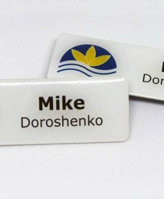 Resin Top Name Badge